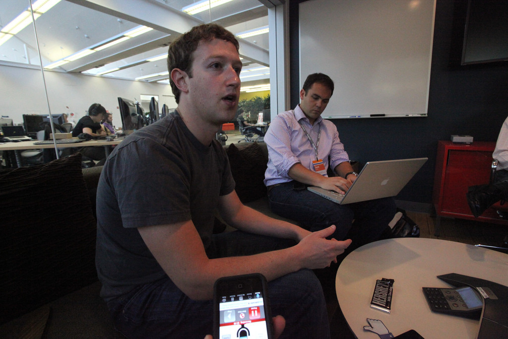 mark zuckerberg in office