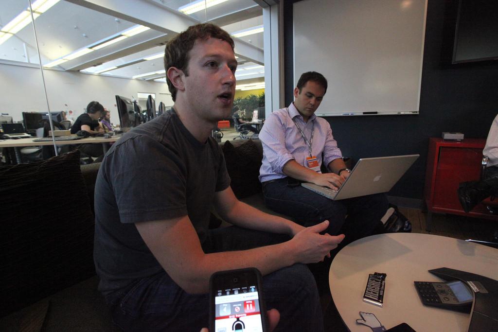 mark zuckerberg in office