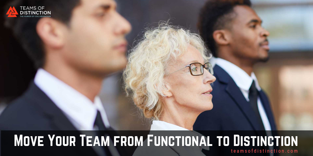 Move your team from functional to distinction